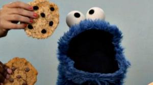 This is not the Cookie Monster. This is me on a rest day.